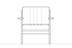 広々シートのコンパクトソファ/W1313・W1314モデル